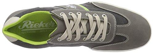 Gris men Baskets Rieker Basses Sneakers 41 Grau Homme anthrazit limette chalk 19111 cement xqYYCwFEB
