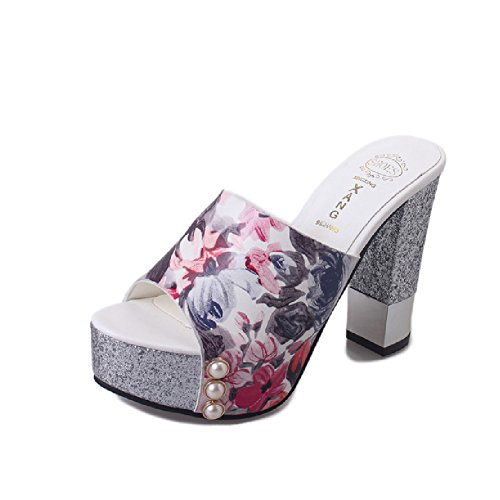 Fashion High Heel Slide Women Summer Thick Bottom Wedge Sandals Peep-Toe Anti-Slip Platform by Btrada