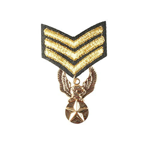 Great Brooch Goldtone Textile Medal Military Star Army Uniform Style Pin Jewelry (Medal of (Designer Medal)