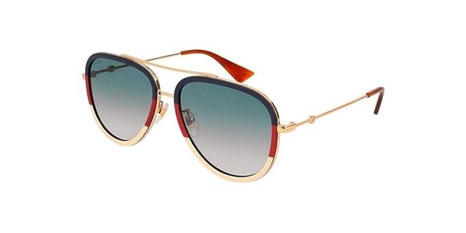 Amazon.com Gucci Aviator Sunglasses GG0062S 013 57 Clothing