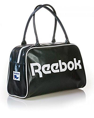 Reebok Womens Classic Royal Duffle Bag Handbag Black White