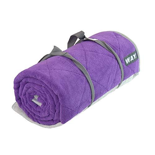 WAYmat Core Exercise Mat – Thick All-Purpose Non-Slip Yoga Towel Mat, Perfect for Hot Yoga, Bikram and Pilates (Purple)
