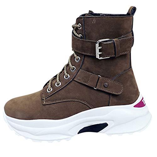 Stringate Cotone Da Piatte Selvagge Eleganti Tacco Scarpe Cachi Per Stivali Lavoro Donna In Con Cintura Sneakers Sportive Fibbia Bassi 7ax0XX6wq