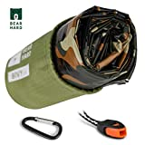 Bearhard Camo Emergency Survival Sleeping Bag Ultralight Waterproof Thermal PE Bivy Sack Bivvy Cover with Heat Retention for Camping, Hiking and Emergency Shelter