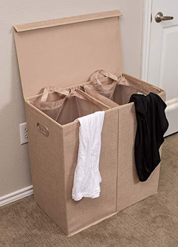 Double compartment laundry hamper
