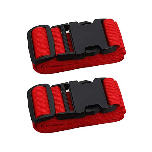 Adjustable Travel Luggage Strap, Nylon Suitcase Belt Luggage Tage Set to Keep Your Luggage Organized and Secure, 43