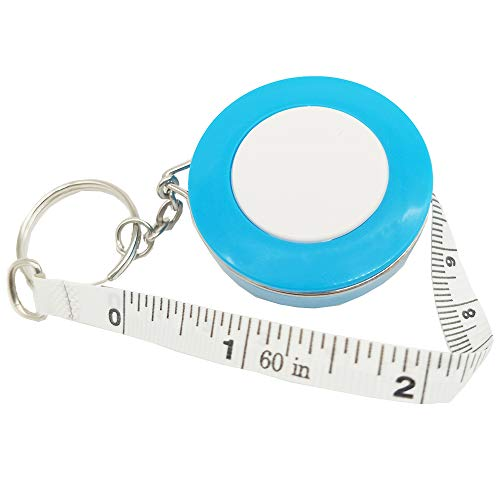 Tape Measure Retractable Measuring Tape for Cloth Body Measuring Tape and The Dual Sided Tape Measure for Sewing Tailor Fabric Measuring Tape (Blue)