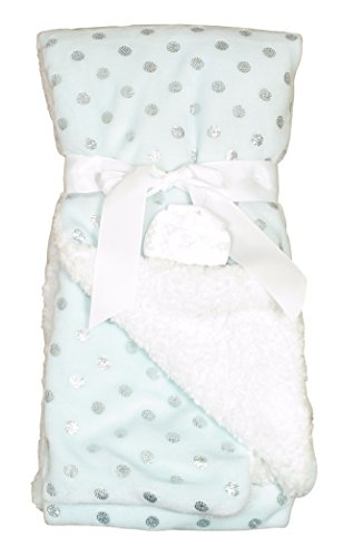 Sam Salem & Sons Soft Plush Baby Blanket Embossed Fleece Reverse Warm Sherpa Throw Bed Pink Blue 30