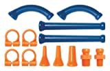 Loc-Line Coolant Hose Extended Element Kit, Acetal Copolymer, 13 Piece, 1/4'' Hose ID