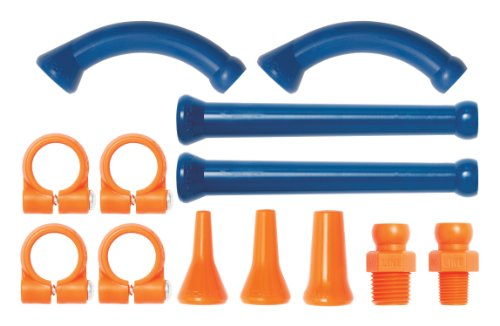 Loc-Line Coolant Hose Extended Element Kit, Acetal Copolymer, 13 Piece, 1/4