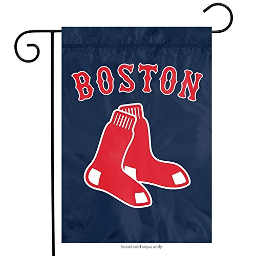 Party Animal Boston Red Sox PA Garden Window Flag Banner Applique Embroidered - Sox Pattern Mlb
