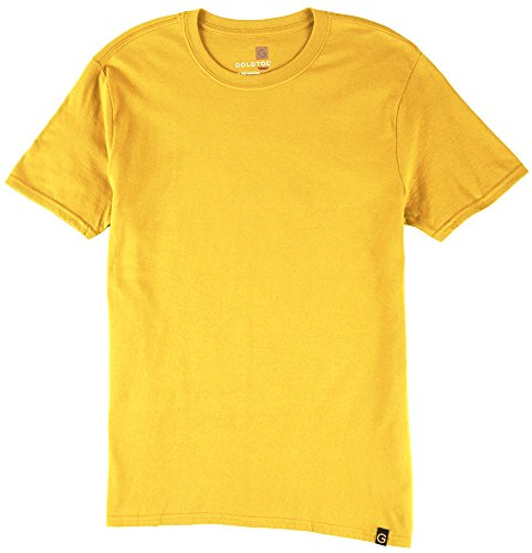 (Gold Toe Mens Crew Neck T-Shirt X-Large Honey gold)