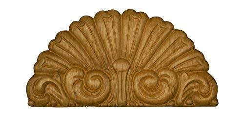 Embossed Wood Fan Ornament- 3 3/8