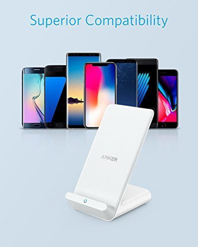 Anker PowerWave 7.5 Fast Wireless Charging Stand with Internal Cooling Fan, Qi-Certified, 7.5W Charges iPhone X /8/8 Plus, 10W Charges Galaxy S9/S9+/S8/S8+/S7/Note 8, LG G7 (with Quick Charge Adapter) by Anker (Image #5)