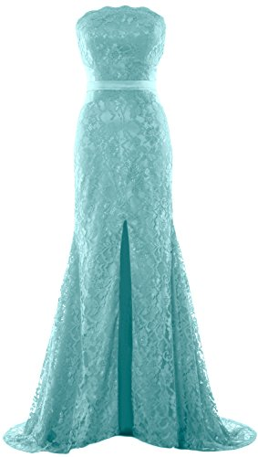 Gown Women Formal Evening Dress Prom Wedding Mermaid Strapless Turquoise Macloth Party