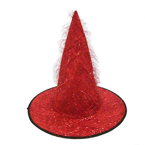 URIBAKE Adult Womens Mens Witch Hat Halloween Costume Accessory Fluff Solid Cap