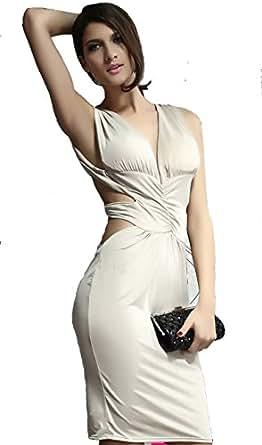 Khaki Cut-out Back Padded Dress