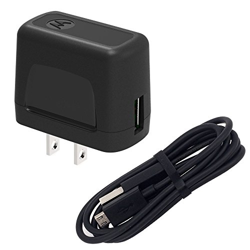 Motorola USB Wall Charger with Micro USB Data Cable - Bulk Packaging - Black