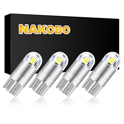 NAKOBO Smart IC DC 9-30V 12v 24v T10 LED Bulb 2-SMD 3030 Chipset 194 921 168 W5W Wedge for Car Interior Dome Door Map Reading License Plate Turn Signal Light Pack of 4