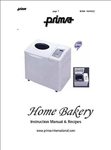 prima bread machine maker instruction manual model pbm06 reprint rh amazon com Malibu Low Voltage Transformer Manual Operators Manual