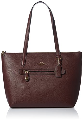 COACH Women's Pebbled Taylor Tote LI/Oxblood Tote by Coach
