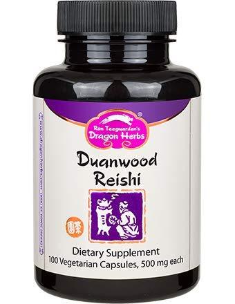Dragon Herbs Duanwood Reishi -- 500 mg - 100 Vegetarian Capsules