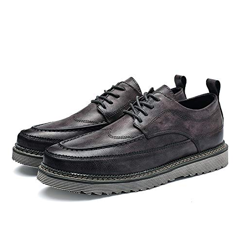 Marrone Casual Simple Uomo Grigio 44 Outsole Vintage Shoes uomo EU New Color Scarpe business da Dimensione String Pelle Oxford Formal stringata 88Rarq