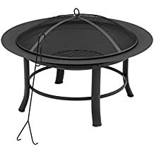 """Fire Pit, 28"""" Includes a Spark Guard Mesh Lid With Lid Lift"""