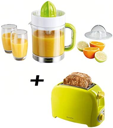 Tostadora verde + exprimidor eléctrico verde: Amazon.es: Hogar