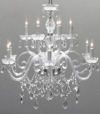 Swarovski crystal trimmed chandelier chandelier lighting crystal swarovski crystal trimmed chandelier chandelier lighting crystal chandeliers h27quot aloadofball Gallery