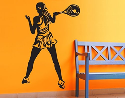 Wall Decal Tennis Player, Color: Aubergine, 57.5x39.4 by PPS. Imaging GmbH (Image #2)