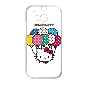 HTC One M8 Cell Phone Case White Hello Kitty With Balloons SLI_635770