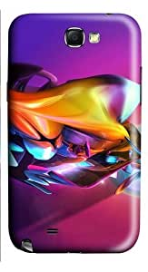 3D Colorful Abstract Colorful Effect PC Case and Cover for Samsung Galaxy Note 2/ Note II/ N7100Kimberly Kurzendoerfer