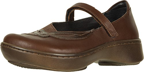 NAOT Footwear Women's Bluegill Maryjane Flat Toffee Brown Lthr/Coffee Bean Nubuck/Walnut Lthr 8 M US ()