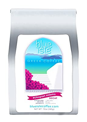 Blue Isle Coffee - Special Reserve DECAF Ethiopia SIDAMO, Whole Bean 12oz