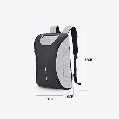 FHGJ Mamabeutel Rucksack Business Computer Tasche USB-Lade-Mehrzweck-Anti-Diebstahl-Rucksack Black