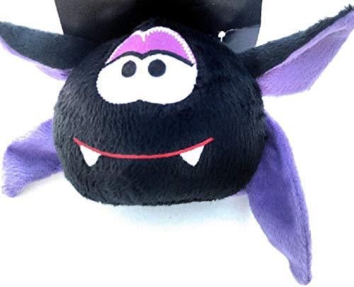 Momentum Dracula Vampire Head Black & Purple Plush Dog Toy with Squeaker - Medium 4 - Head Dracula