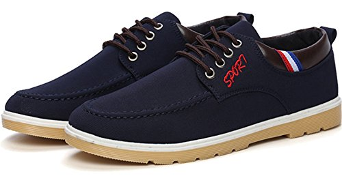 Board Lace Blue PPXID Canvas Casual Mens Sneakers Shoes 1 Up vRwqR1