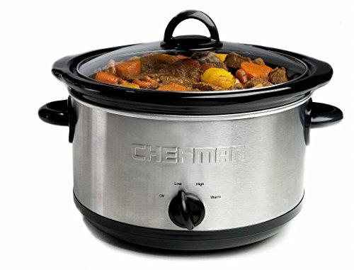 Chefman RJ15-6-SS-R 6 quart Slow Cooker with 3 Manual Heat Settings, Stainless Steel Review