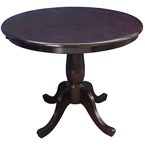 30 inch round pedestal table - 5
