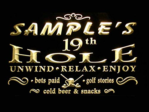 (ADVPRO Name Personalized Custom Golf 19th Hole Bar Beer Neon Sign Yellow 16
