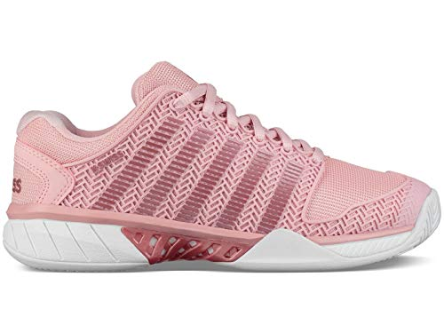 K-Swiss Women's Hypercourt Express Tennis Shoe (Coral Blush/White, 6.5 M US)