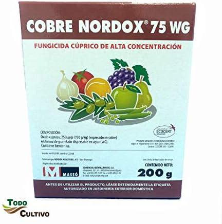 Cobre Rojo Fungicida Cúprico. Óxido cuproso al 75%(. Fungicida ecológico de Alta concentración. 200 gr. (válido para 200 litros de Agua)