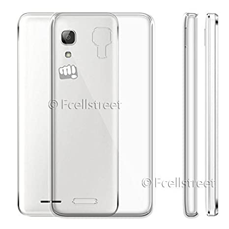 ECellStreet reg; Silicone Soft Back Cover for Micromax Bharat 2 Q402  Transparent  Mobile Phone Cases   Covers