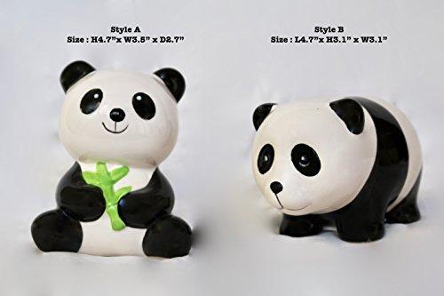 Panda Coin Set (2 Set of Cute Ceramic Panda Bear Coin Saving Bank (Set A))