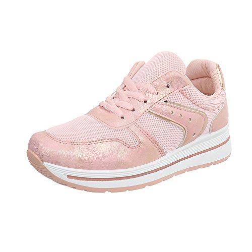 Zeppa Donna Rosa 24 design Ital Sneakers Da Sneaker Pp Scarpe Low qRgU4wB