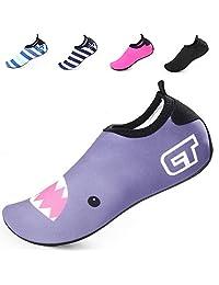 BETTERLINE - Zapatos de Agua para Niñas y Niños Zapatillas de Playa de Secado Rápido con Plantillas Extraíbles