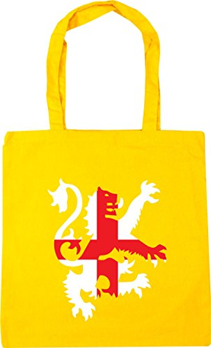 litres Football HippoWarehouse Yellow Gym x38cm england 42cm flag 10 Tote Bag Beach Shopping lion rrqdOW7
