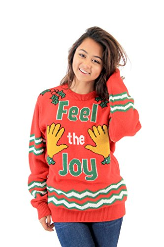 amazoncom feel the joy groping hands adult red ugly christmas sweater clothing - Dirty Christmas Sweater