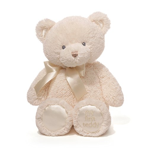Baby GUND My First Teddy Bear Stuffed Animal Plush, Cream, (Yellow Soft Bear)